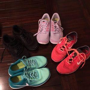 4pr Nike Free Run bundle 8.0 sneakers athletic